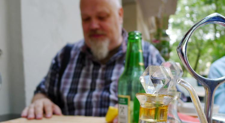 Henrik Alexandersson, HAX, i Berlin Kreuzberg, augusti 2017. Foto Karl Andersson.