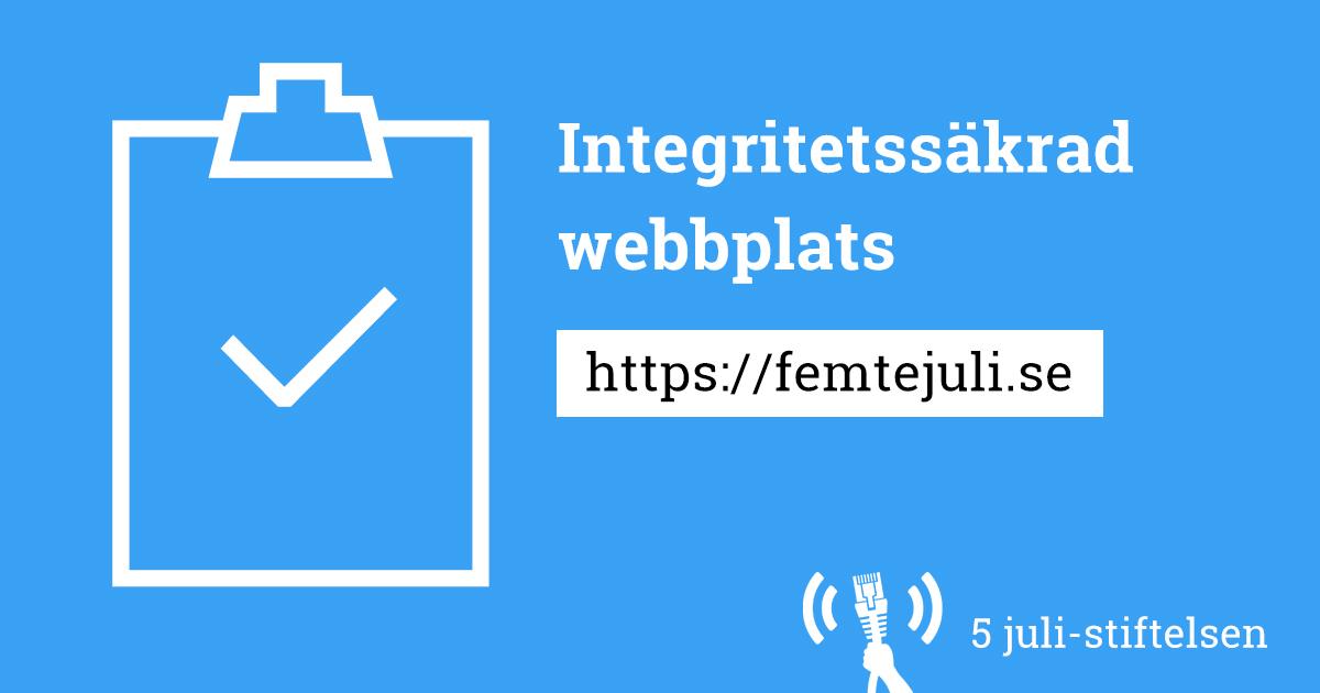 Integritetssäkrad webbplats