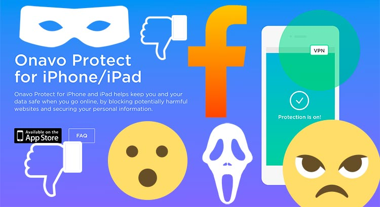 Onavo Protect VPN mashup illustration