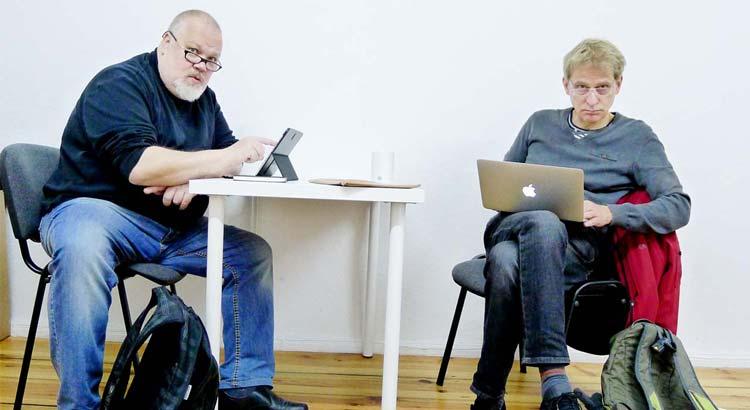 Henrik Alexandersson och Oscar Swartz diskuterar nätneutralitet