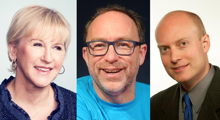 Margot Wallström, Jimmy Wales, Karl Sigfrid